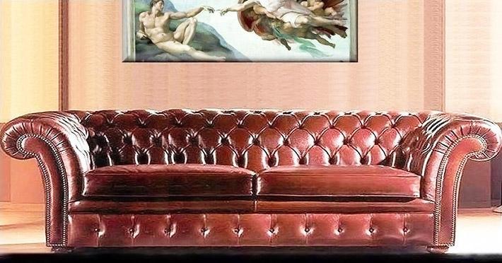 Divani classici aston villa - Divano classico in pelle ...