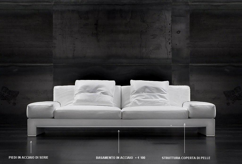 Divano in pelle design america - Pelle del divano rovinata ...