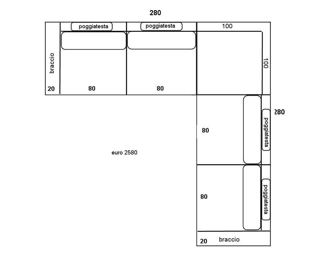 Divani di grandi dimensioni idee per il design della casa - Divano angolare piccole dimensioni ...