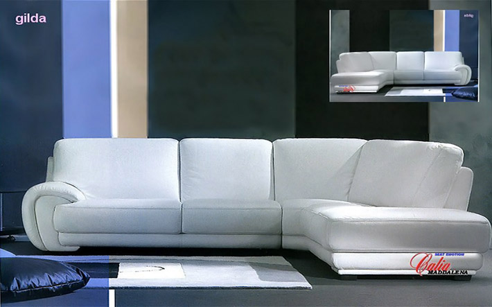 Divani in pelle contemporanei gilda - Copridivano angolare per divano in pelle ...