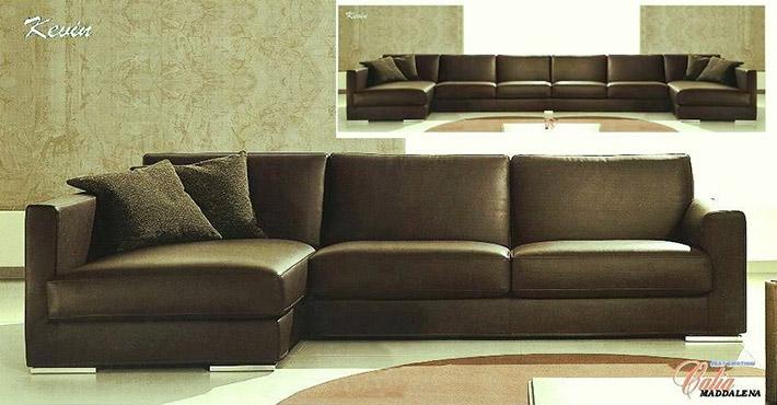 Divani in pelle moderni kevin - Piccolo divano angolare ...