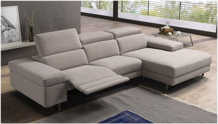 Divano in pelle Relaxo con chaiselong 300 x 180 con 2 relax
