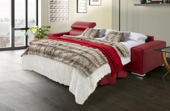 Salotto angolare Tempo con letto aperto