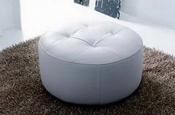 Puff In Pelle. Interesting Pouf Rotondo With Puff In Pelle. Poltrona ...