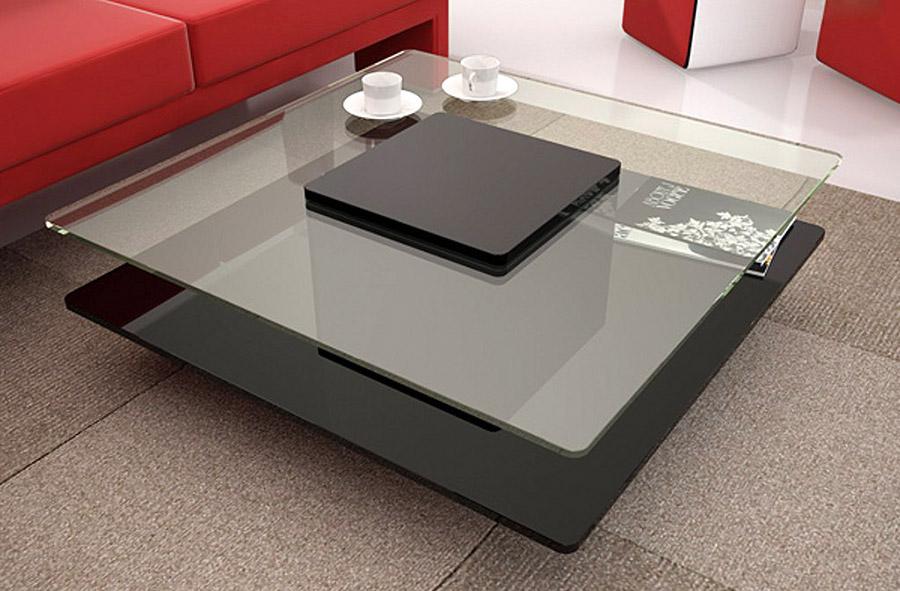 Tavolini su misura in legno e acciaio per divani in pelle for Tavolini moderni